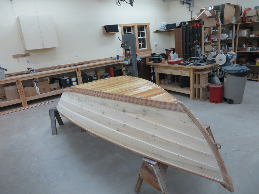 Yankee Tender original bottom prepped with linseed oil bow view
